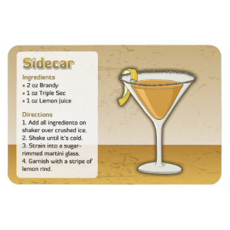Sidecar cocktail magnet