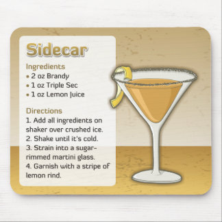 Sidecar cocktail mouse mat