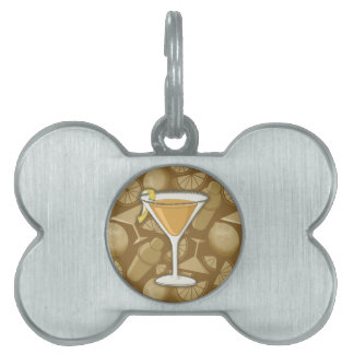 Sidecar cocktail pet name tag