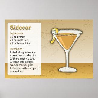 Sidecar Recipe Poster