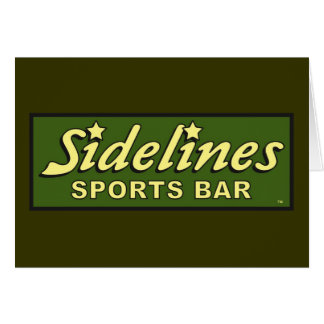 sidelines sports bar extract movie mike judge greeting card