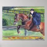 Sidesaddle Horse Show Portrait Poster