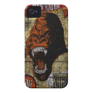 Sideshow Banner with Man Eating Gorilla iPhone 4 Case-Mate Case