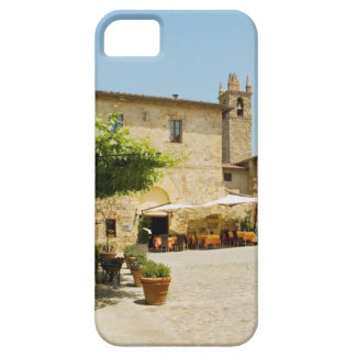 Sidewalk cafe beside a church, Romanesque iPhone 5 Case
