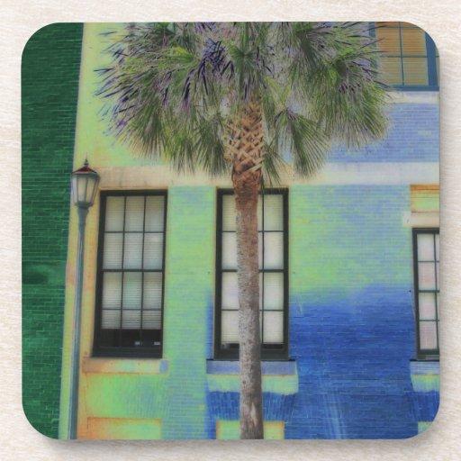 Sidewalk Palm Tree Drink Coaster