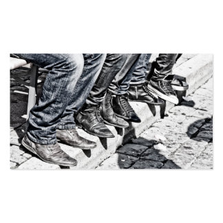 Sidewalk shoes business card template