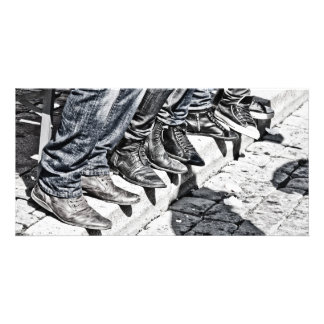 Sidewalk shoes photo cards