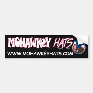 Sideways Mohawkey Monkey bumper sticker