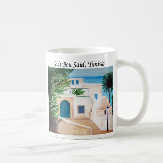 """""""Sidi Bou Said, Tunisia"""" coffee mug"""