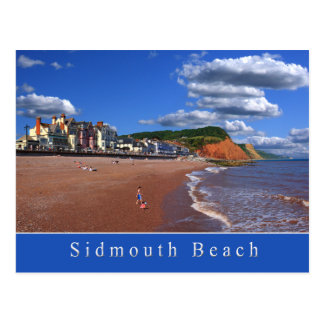 Sidmouth Beach Postcard