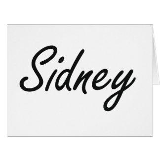 Sidney Artistic Name Design Big Greeting Card