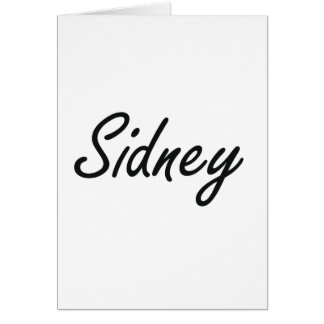Sidney artistic Name Design Greeting Card