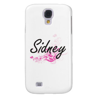 Sidney Artistic Name Design with Flowers Galaxy S4 Case