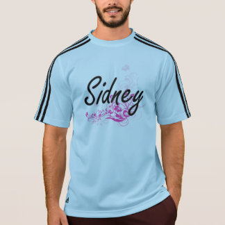 Sidney Artistic Name Design with Flowers Tee Shirts
