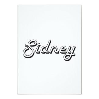 Sidney Classic Retro Name Design 13 Cm X 18 Cm Invitation Card
