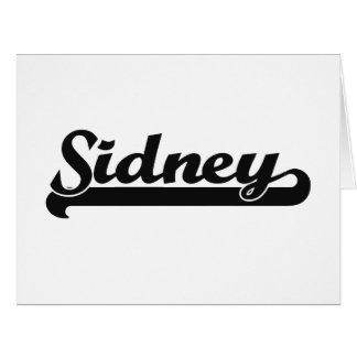 Sidney Classic Retro Name Design Big Greeting Card