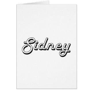 Sidney Classic Retro Name Design Greeting Card