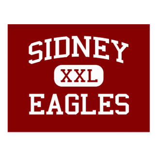 Sidney - Eagles - High School - Sidney Montana Postcard