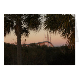 Sidney Lanier Bridge at Sunset Note Card
