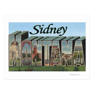 Sidney, Montana Postcard