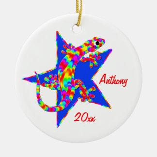 Sidney Salamander Star Christmas Ornament