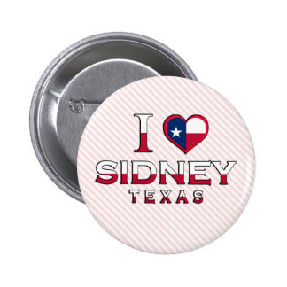 Sidney Texas Button