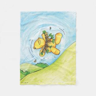 Sidney the Bear's Flight Fleece Blanket
