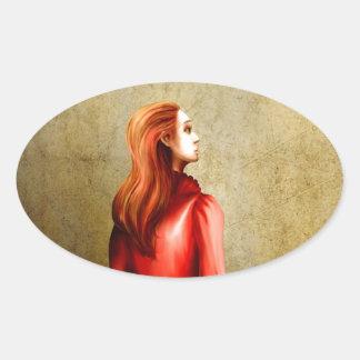 Sidonia gazing oval sticker