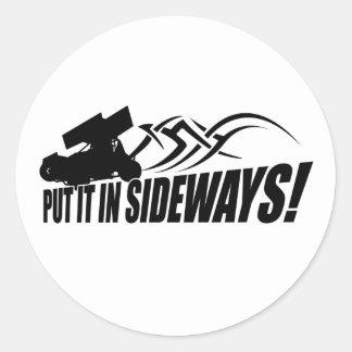 Sidways2 Round Sticker