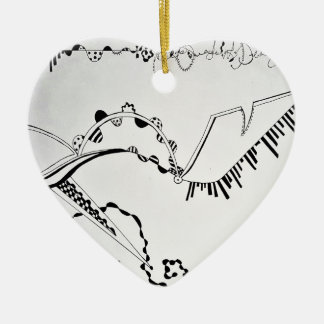 SieCel Fashion Shoe Drawing Print Ceramic Heart Decoration