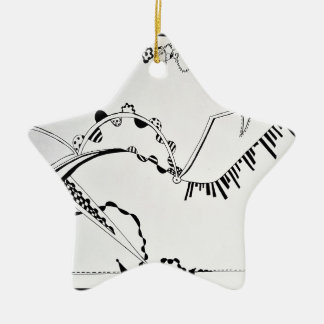 SieCel Fashion Shoe Drawing Print Christmas Ornament