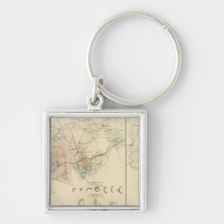 Siege of Atlanta Silver-Colored Square Key Ring