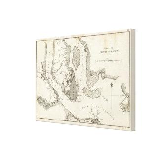 Siege of Charleston Canvas Print