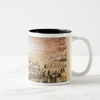 Siege of Mahon, 20th May 1756 Two-Tone Coffee Mug