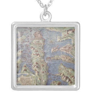 Siege of Malta Silver Plated Necklace