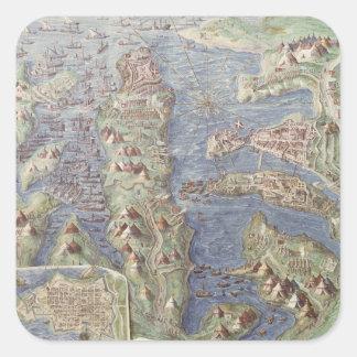 Siege of Malta Square Sticker