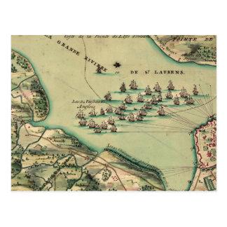 Siege of Quebec Map Postcard