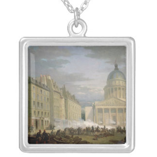 Siege of the Pantheon, 24th June 1848 Silver Plated Necklace