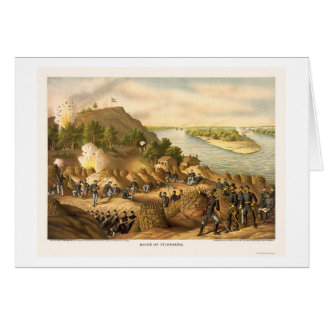 Siege of Vicksburg by Kurz and Allison 1863 Card