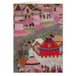 Siege of Vienna by Suleyman I  the Magnificent Greeting Card