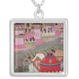 Siege of Vienna by Suleyman I  the Magnificent Square Pendant Necklace