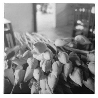 Siem Reap Cambodia, Lotus Flowers Ceramic Tile