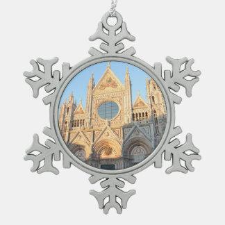 Siena Italy Pewter Snowflake Decoration