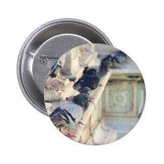 SIENA, ITALY Piazza del Campo 6 Cm Round Badge