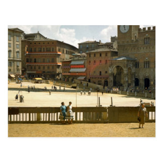 Siena, ready for the horse race postcard