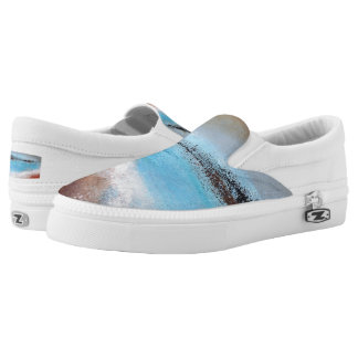Siena Turquoise Abstract Slip on Sneaker Printed Shoes