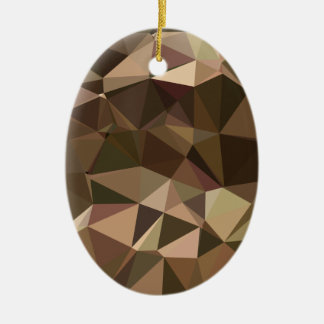 Sienna Abstract Low Polygon Background Ceramic Oval Decoration