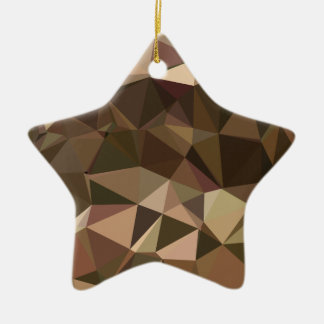 Sienna Abstract Low Polygon Background Ceramic Star Decoration