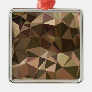 Sienna Abstract Low Polygon Background Silver-Colored Square Decoration