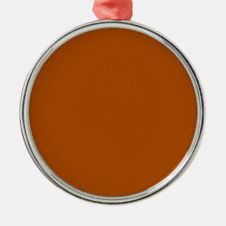 Sienna brown color background ready to customize Silver-Colored round decoration